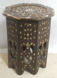North African Mother of Pearl Inlaid Wooden Occasional Table